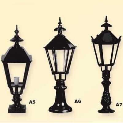 Lampa ogrodowa Retro