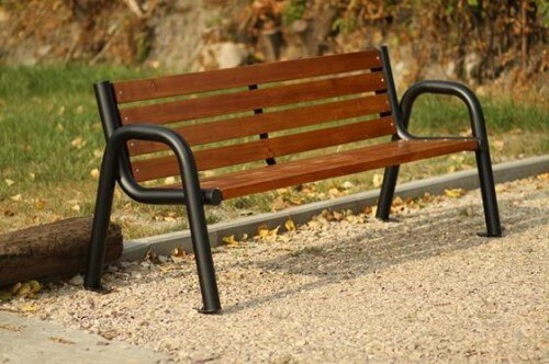 Ławka parkowa miejska stalowa