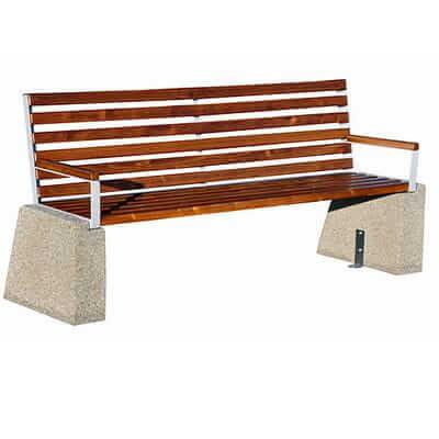 Betonowa ławka parkowa
