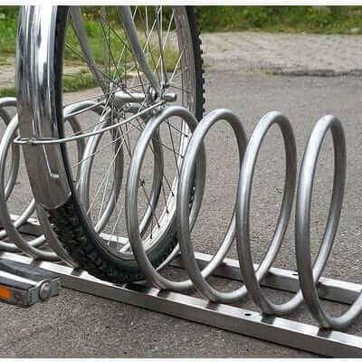 Stojak rowerowy spiralny